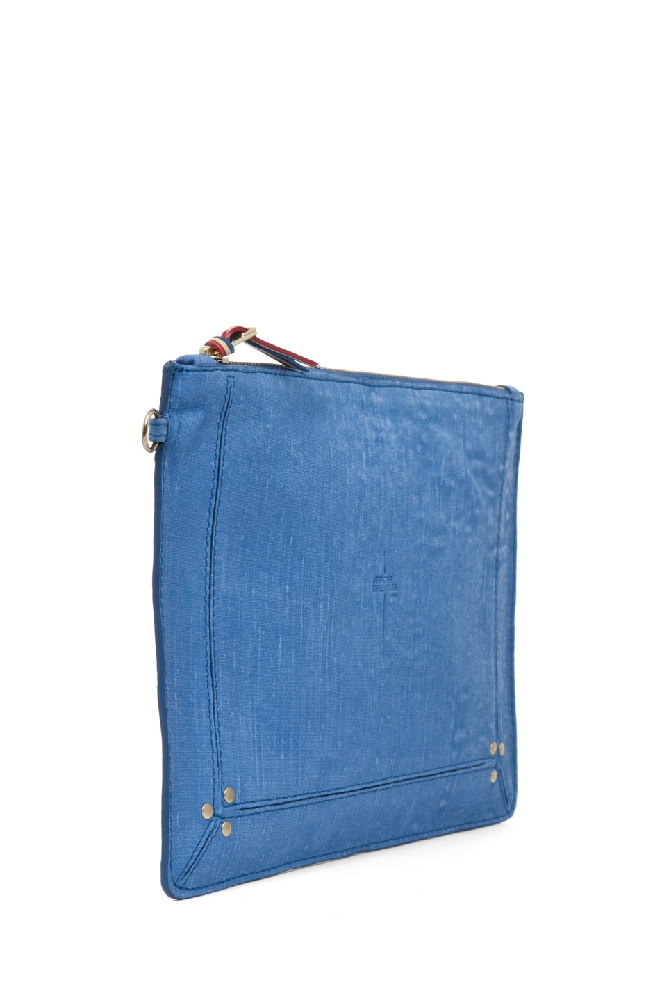Image 3 of Jerome Dreyfuss Large Popoche Clutch in Denim Bleu