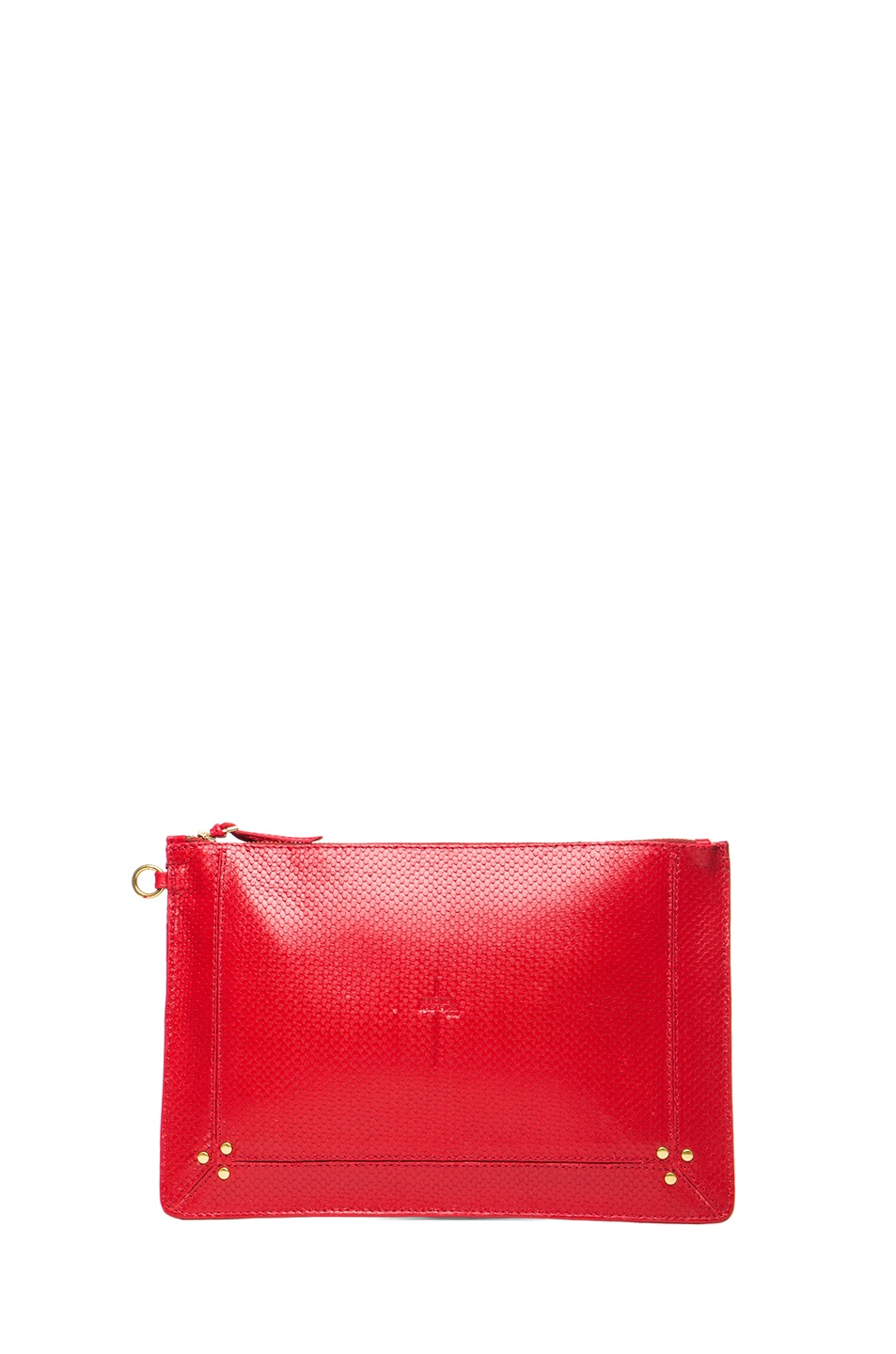 Image 1 of Jerome Dreyfuss Large Popoche Clutch in Red