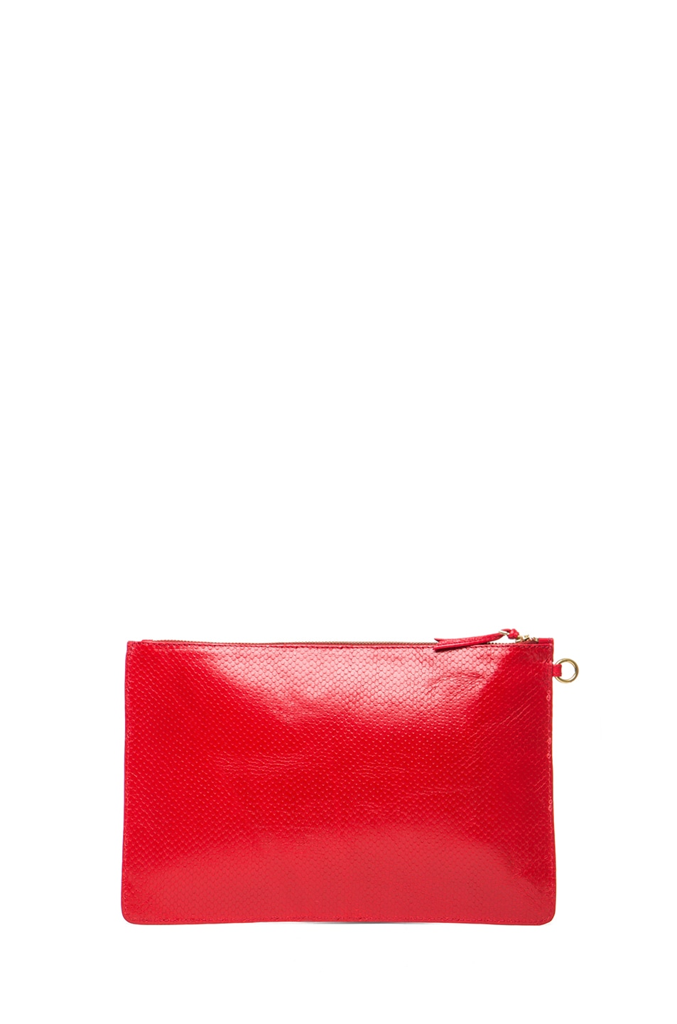 Image 2 of Jerome Dreyfuss Large Popoche Clutch in Red
