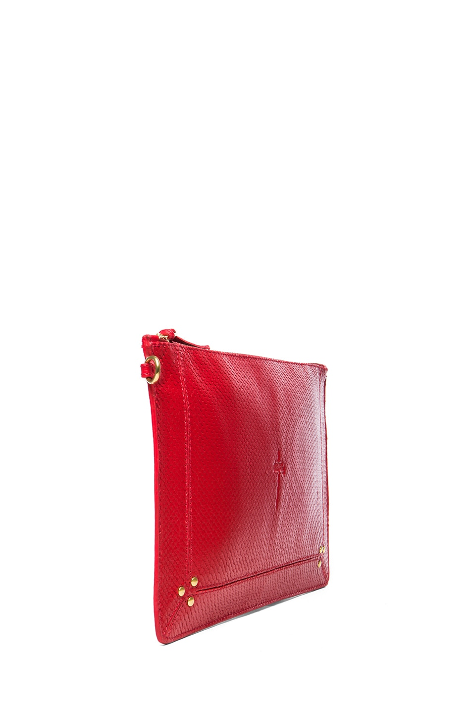 Image 3 of Jerome Dreyfuss Large Popoche Clutch in Red