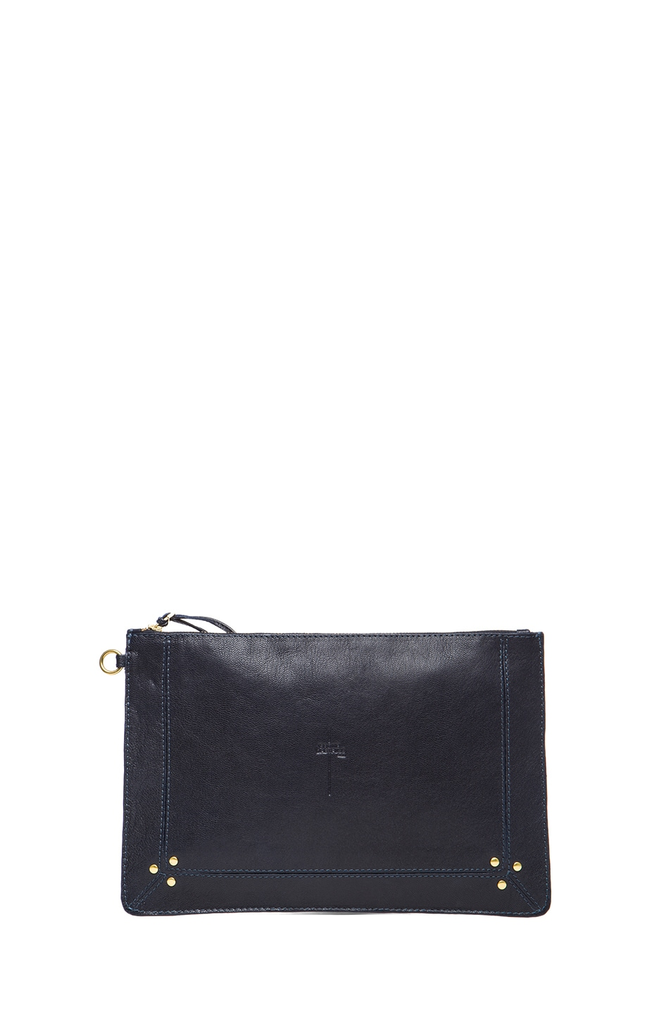 Image 1 of Jerome Dreyfuss Large Popoche Clutch in Marine