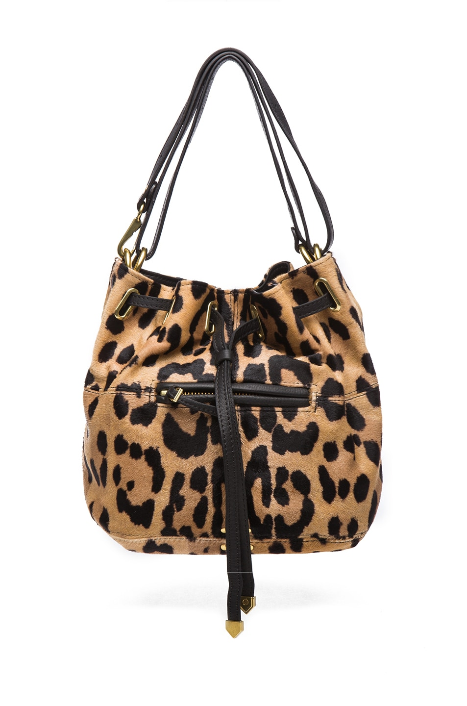 Image 1 of Jerome Dreyfuss Small Alain Shoulder Bag in Leopard