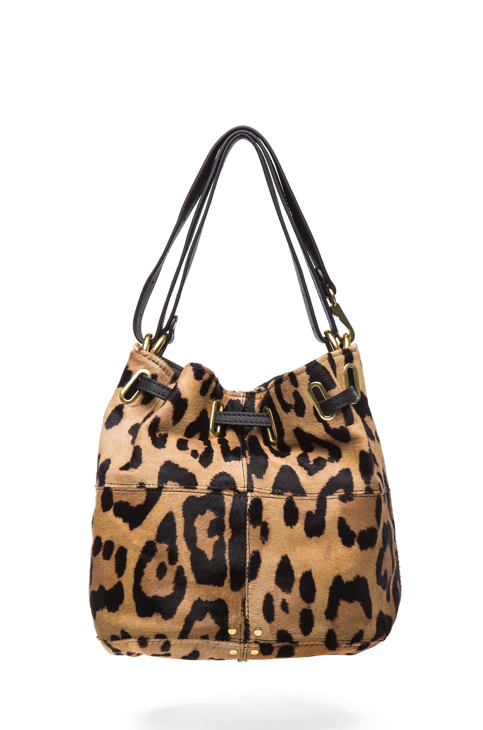 Image 2 of Jerome Dreyfuss Small Alain Shoulder Bag in Leopard