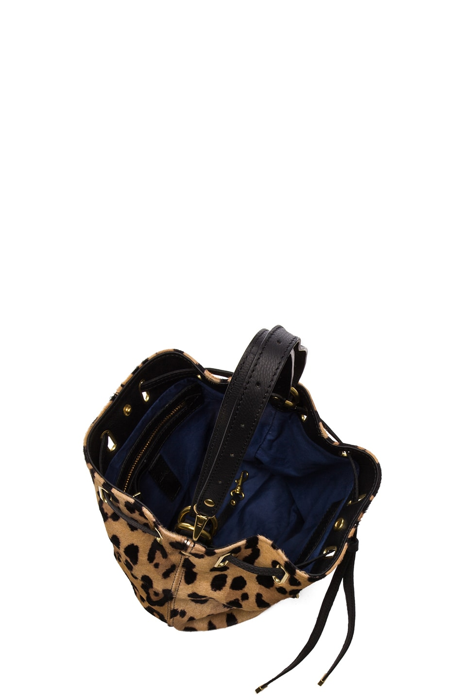 Image 4 of Jerome Dreyfuss Small Alain Shoulder Bag in Leopard