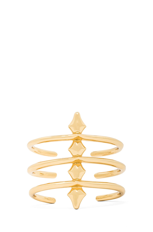 Image 1 of Jennifer Fisher 3 Peak Spine Cuff in Brass