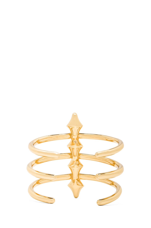 Image 3 of Jennifer Fisher 3 Peak Spine Cuff in Brass