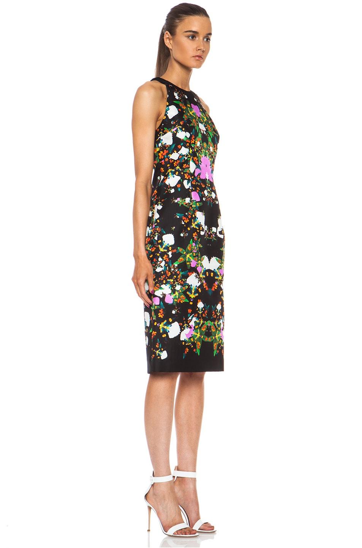 Image 3 of Josh Goot Orchid Mirror Silk Tank Dress in Black