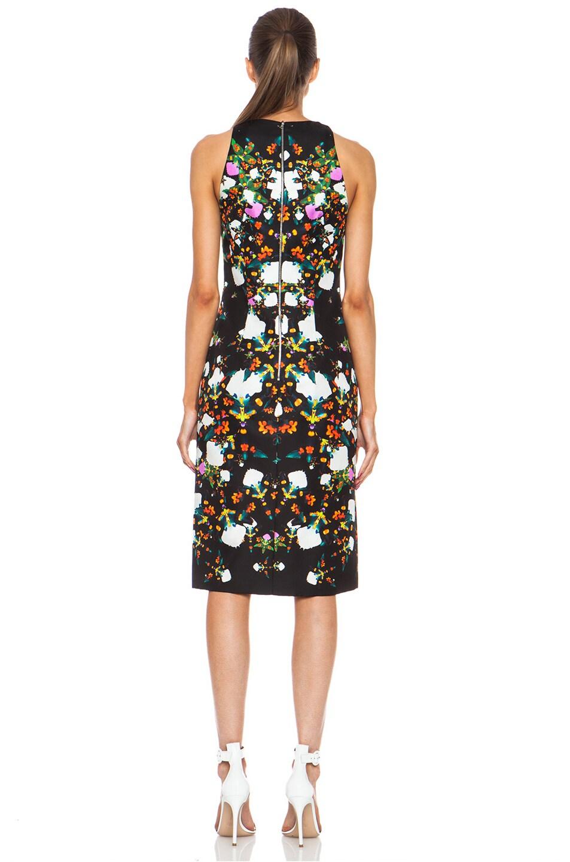 Image 4 of Josh Goot Orchid Mirror Silk Tank Dress in Black