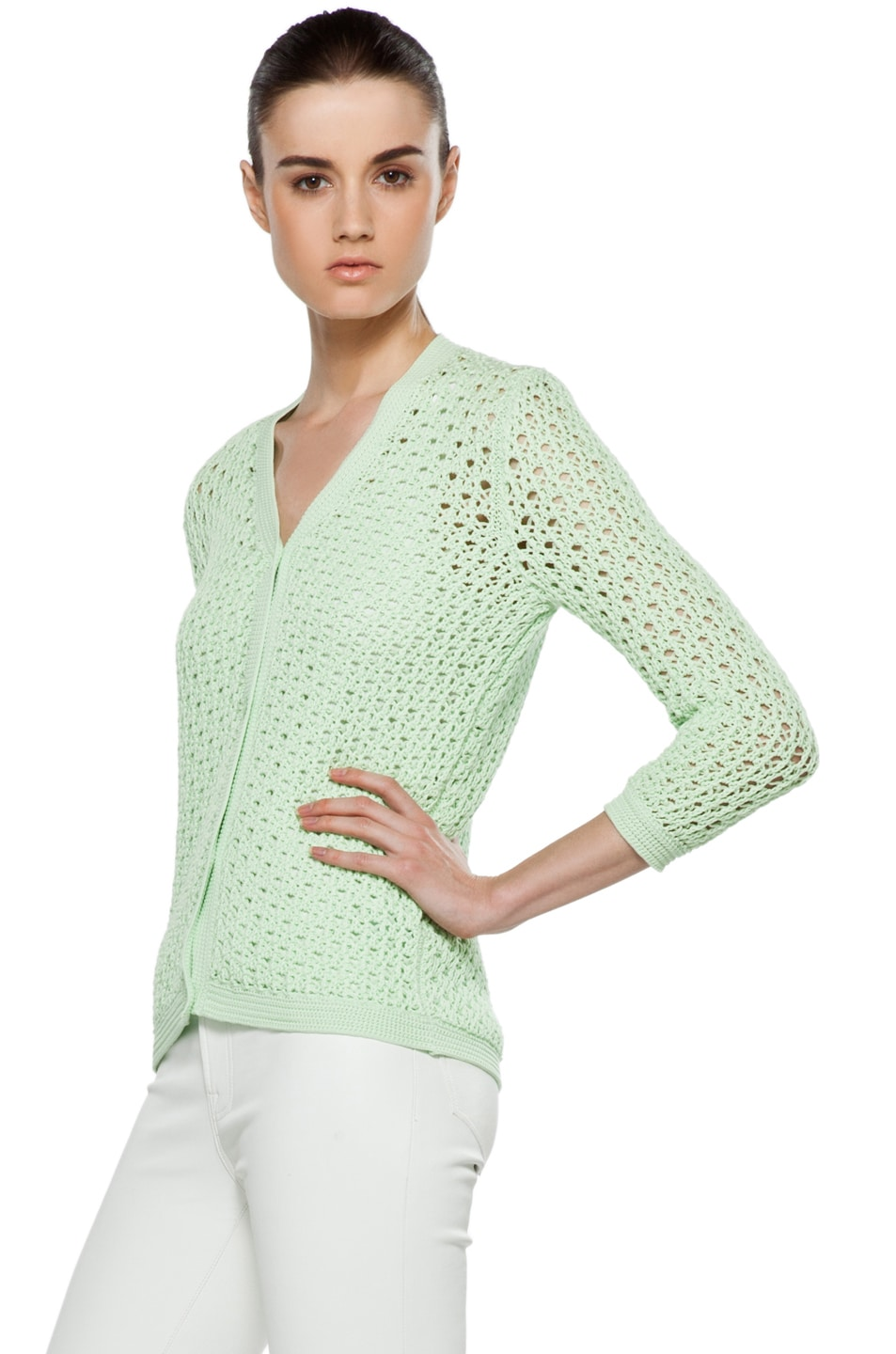 Image 3 of Jil Sander Cardigan in Mint
