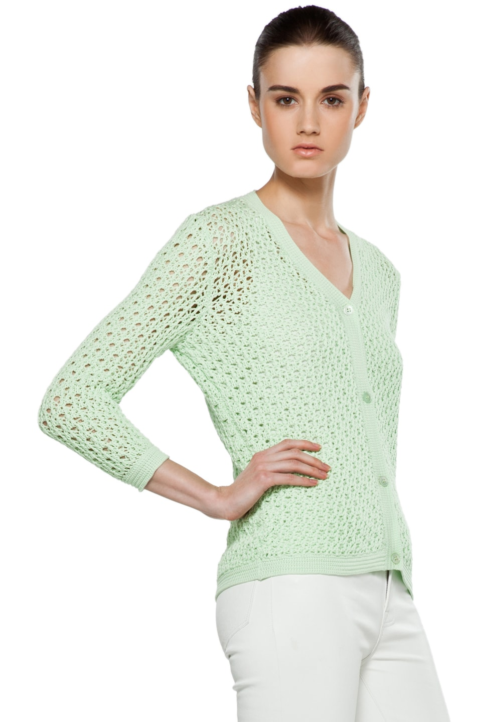 Image 4 of Jil Sander Cardigan in Mint