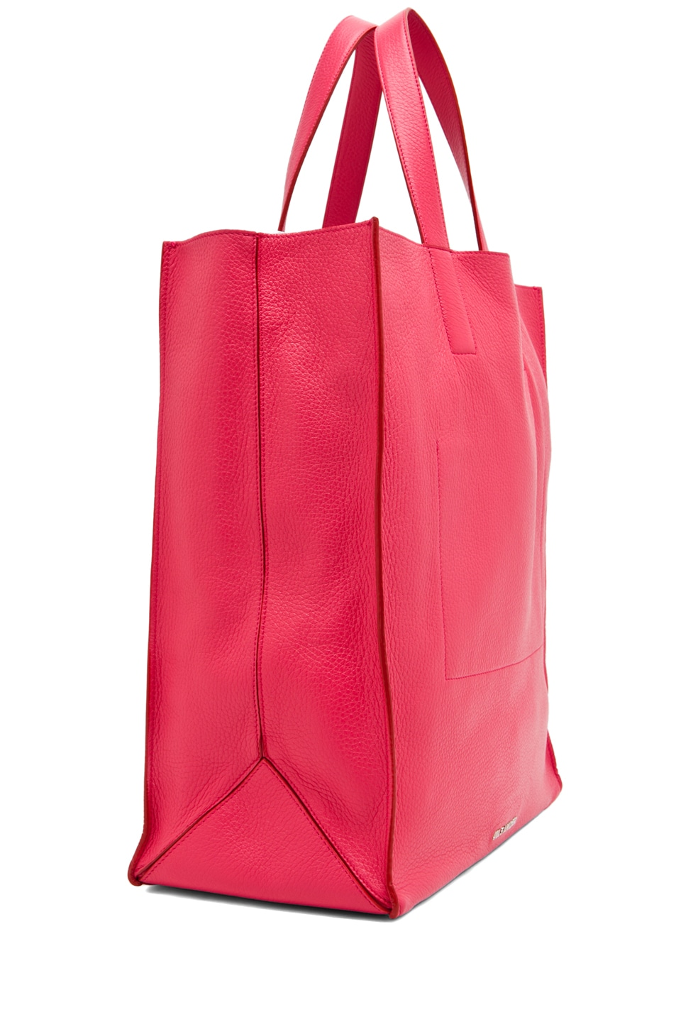 Image 3 of Jil Sander Paper Bag Tote in Lipstick
