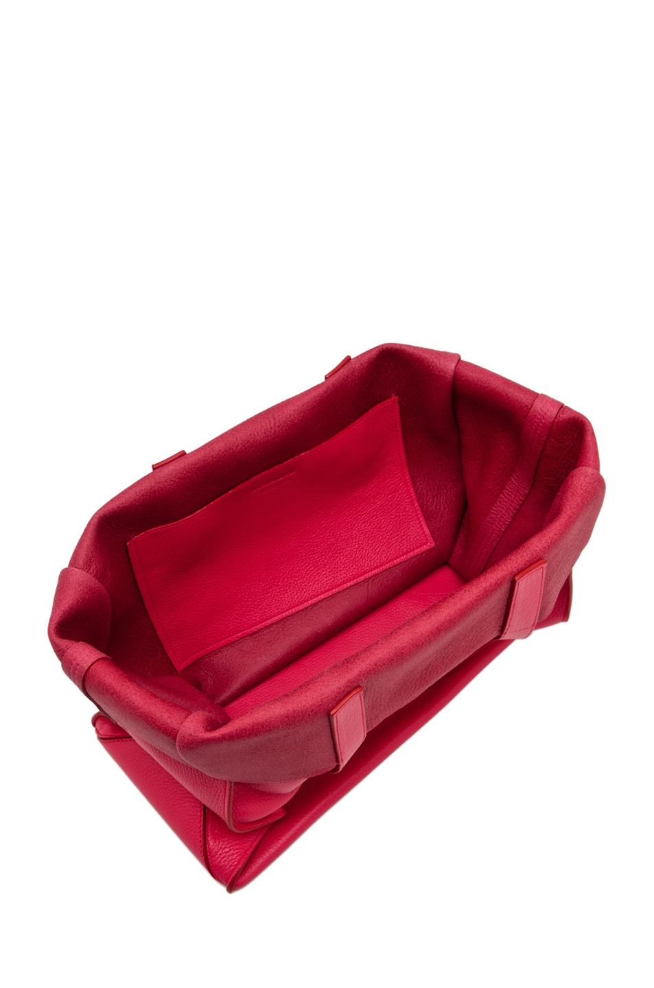 Image 4 of Jil Sander Paper Bag Tote in Lipstick
