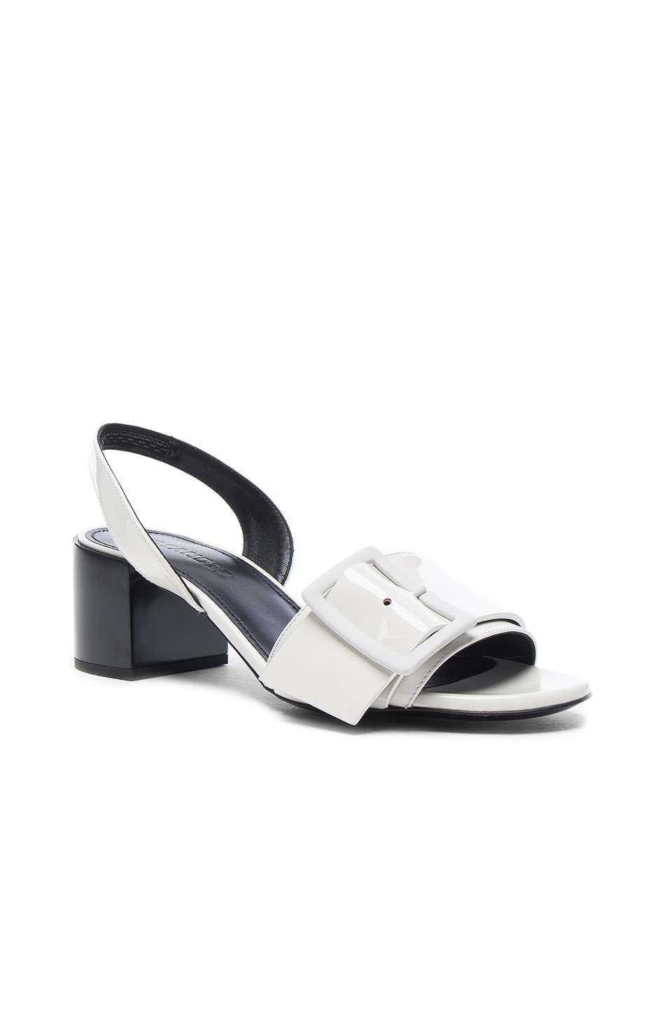 Image 2 of Jil Sander Patent Leather Heels in Riso & Nero