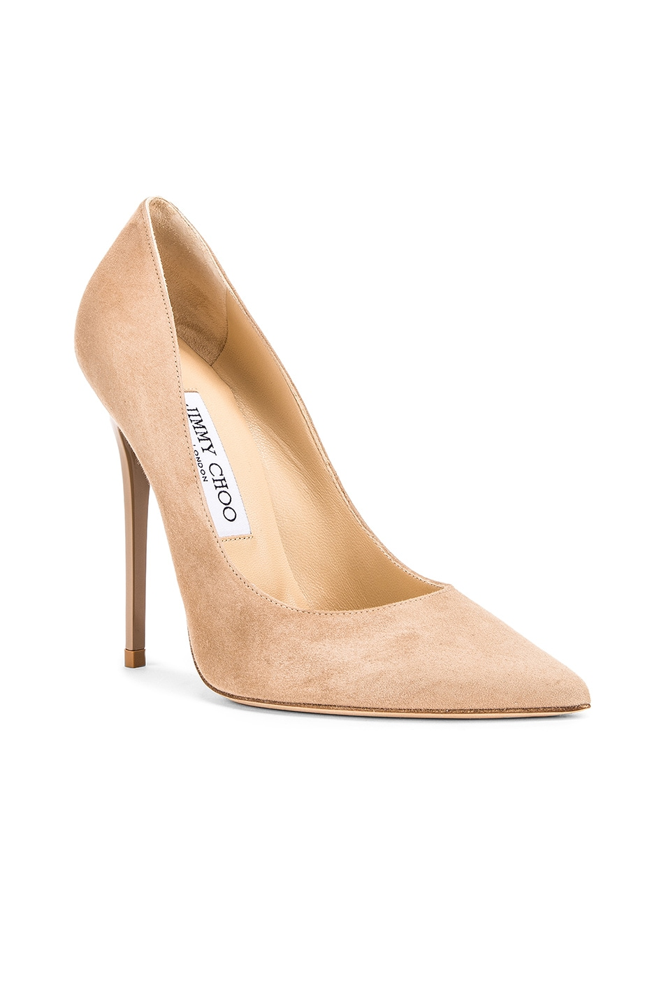 Image 2 of Jimmy Choo Anouk Suede Pumps in Nude