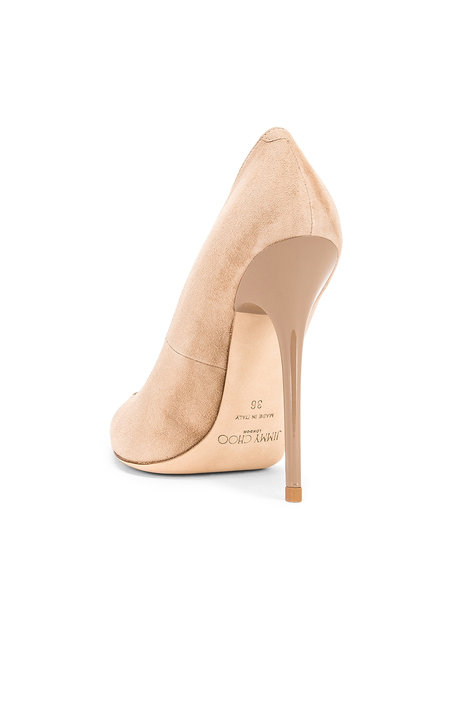 Image 3 of Jimmy Choo Anouk Suede Pumps in Nude