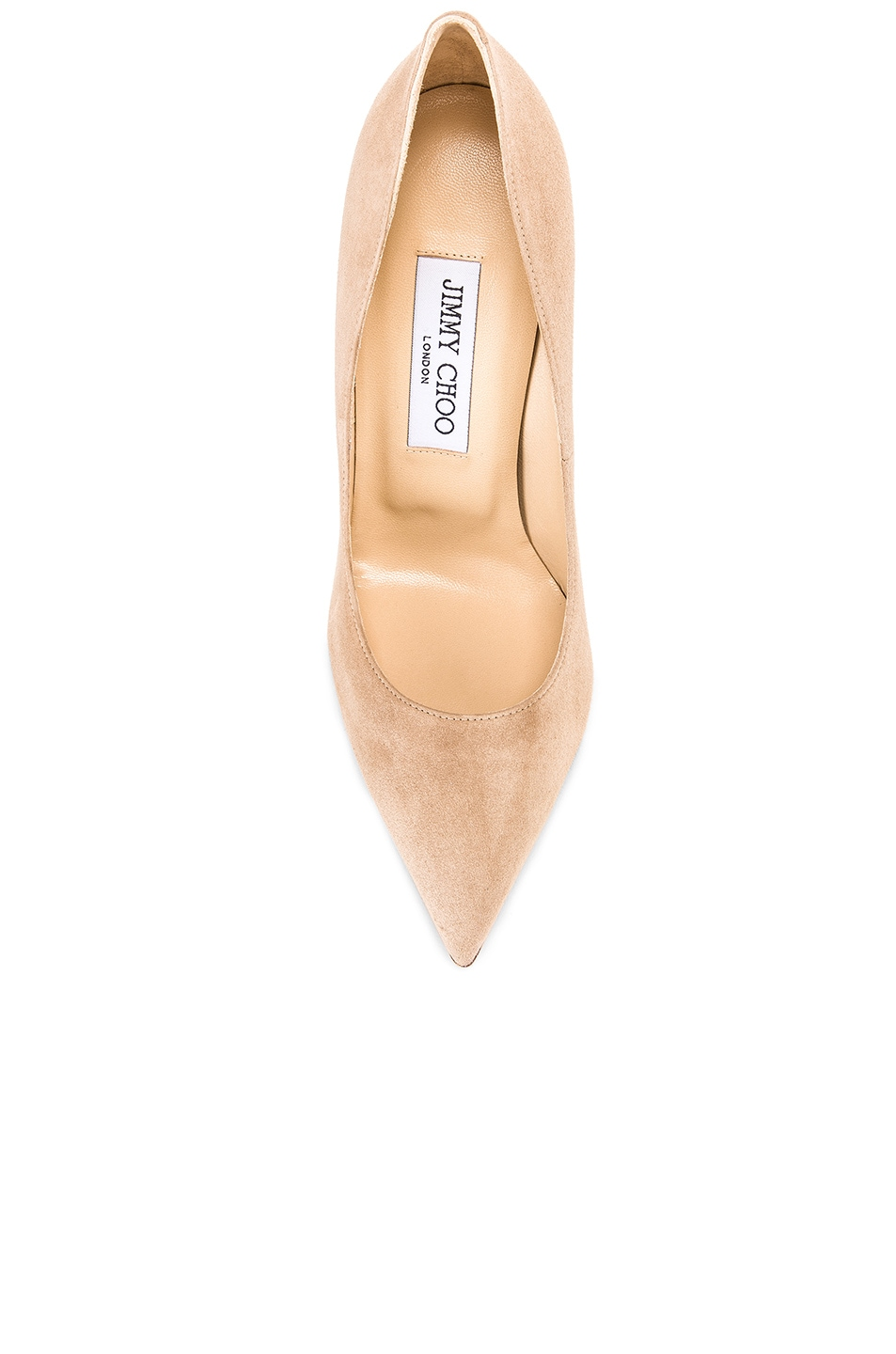 Image 4 of Jimmy Choo Anouk Suede Pumps in Nude