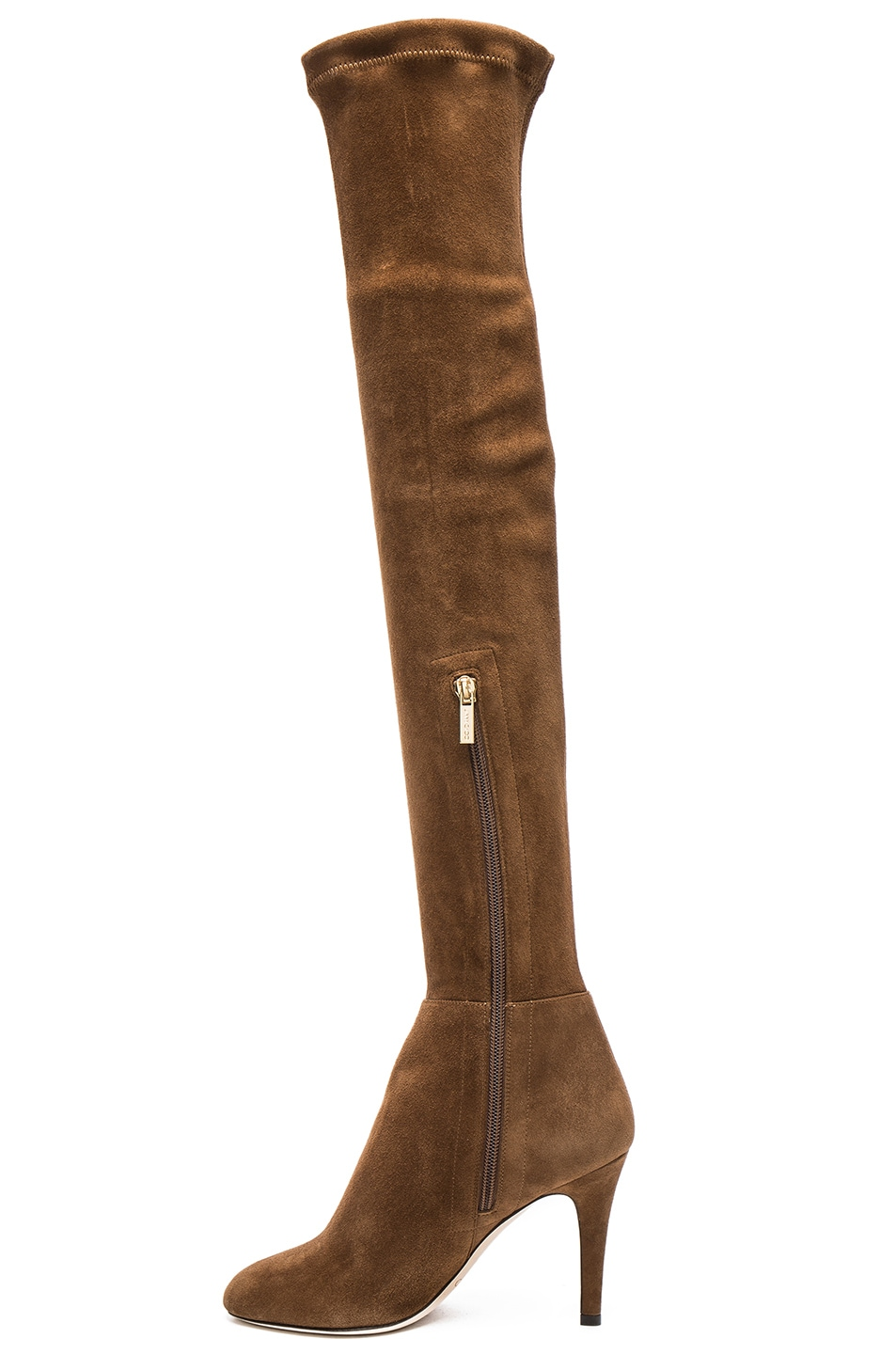 Image 5 of Jimmy Choo Suede Toni Boots in Khaki Brown