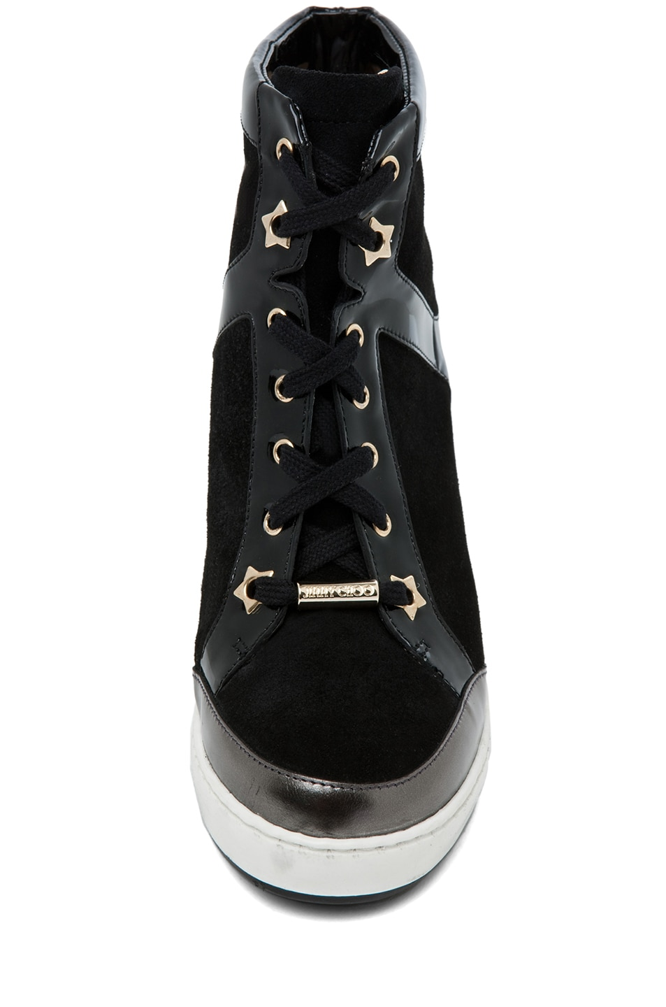 Image 4 of Jimmy Choo Panama Wedge Sneaker in Black