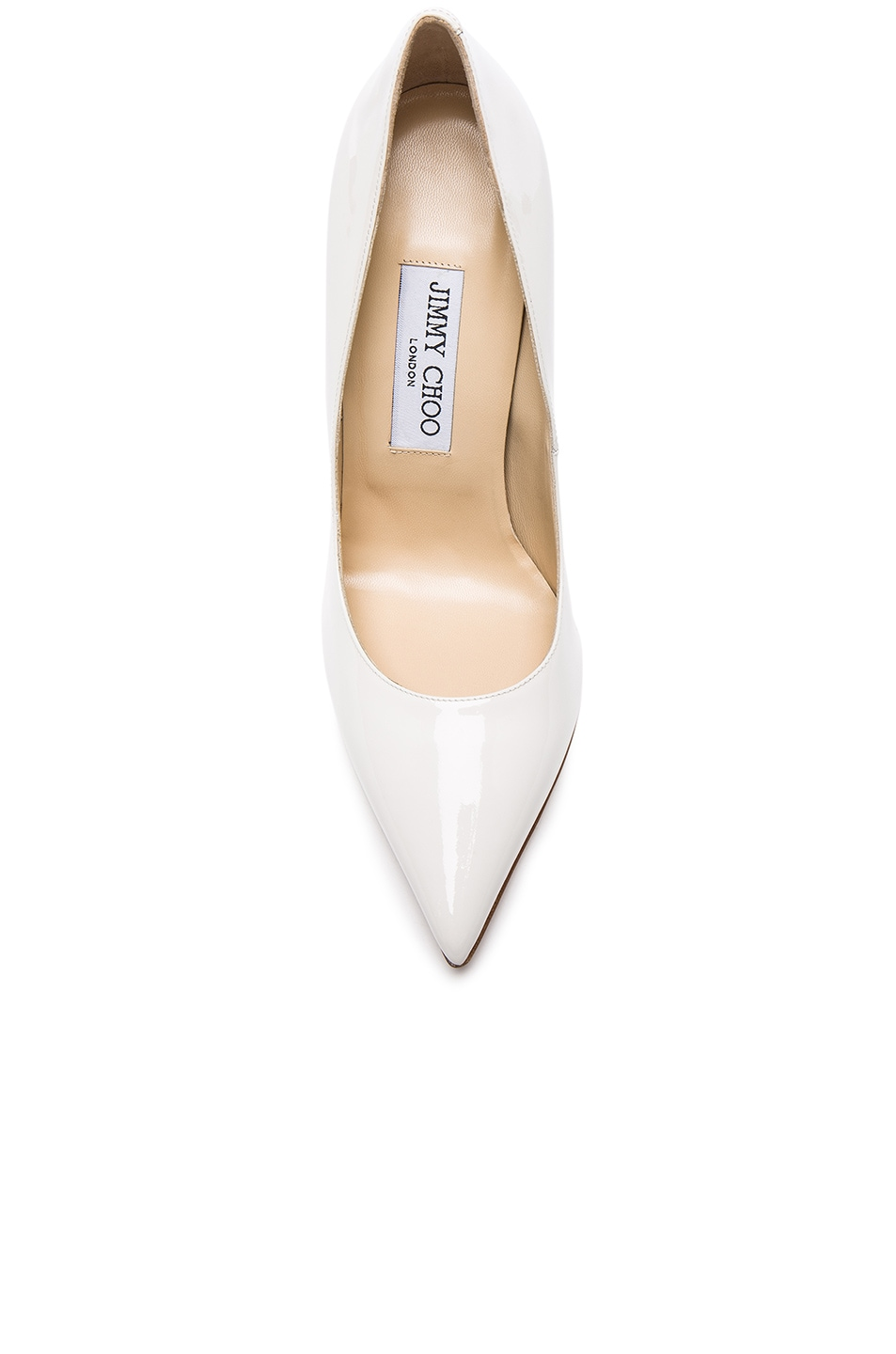 Image 4 of Jimmy Choo Patent Leather Anouk Pumps in Chalk