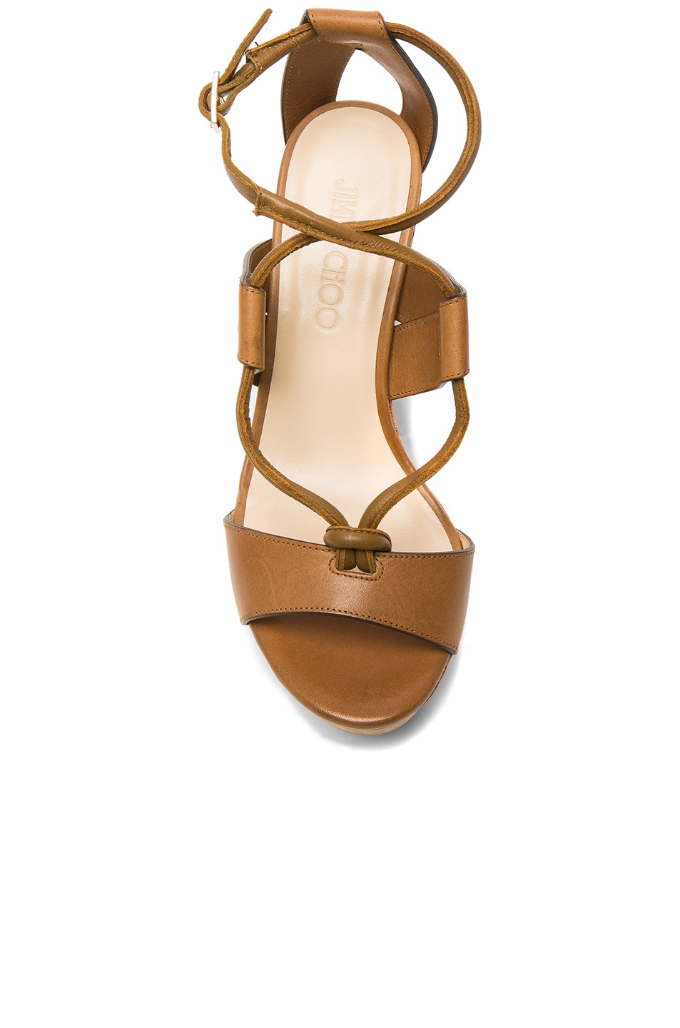 Image 4 of Jimmy Choo Leather Nelson Wedges in Tan