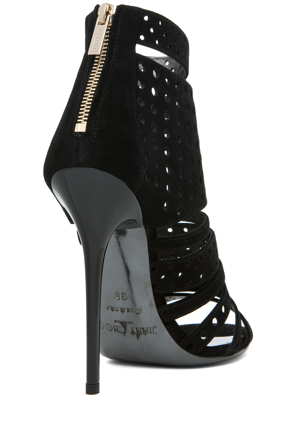 Image 3 of Jimmy Choo Malika Suede Perforated Bootie in Black