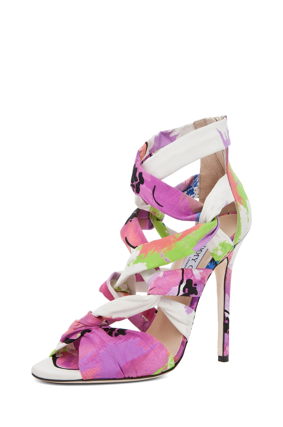 Image 2 of Jimmy Choo Kemble Floral Heel in Pink Mix