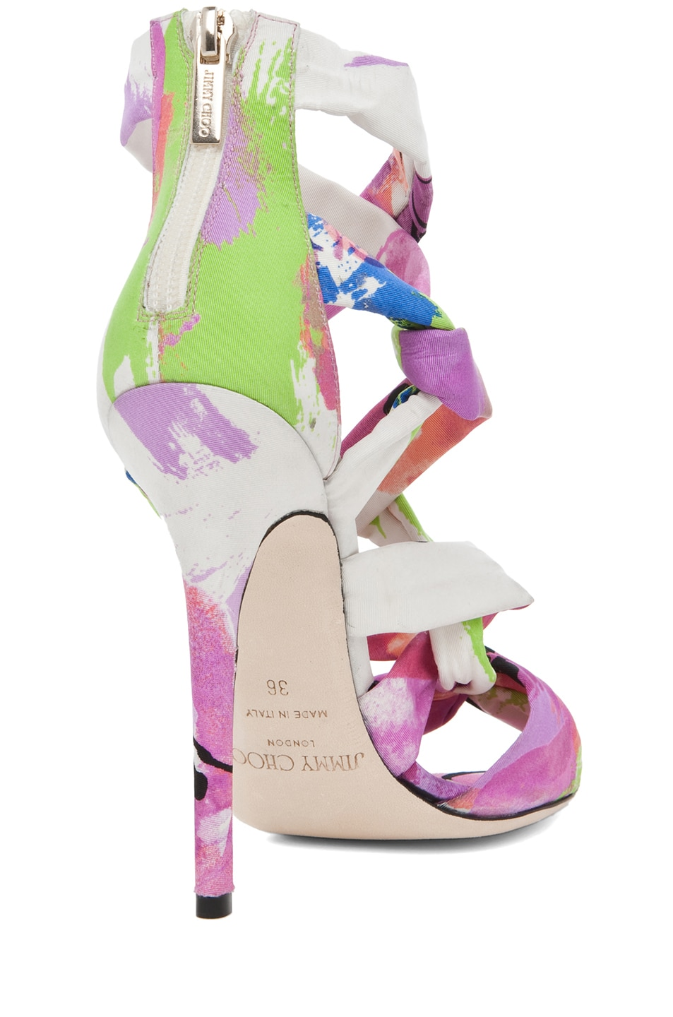 Image 3 of Jimmy Choo Kemble Floral Heel in Pink Mix