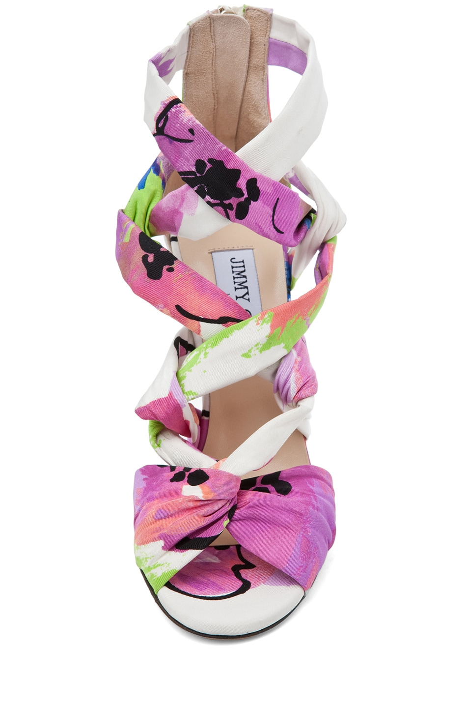 Image 4 of Jimmy Choo Kemble Floral Heel in Pink Mix