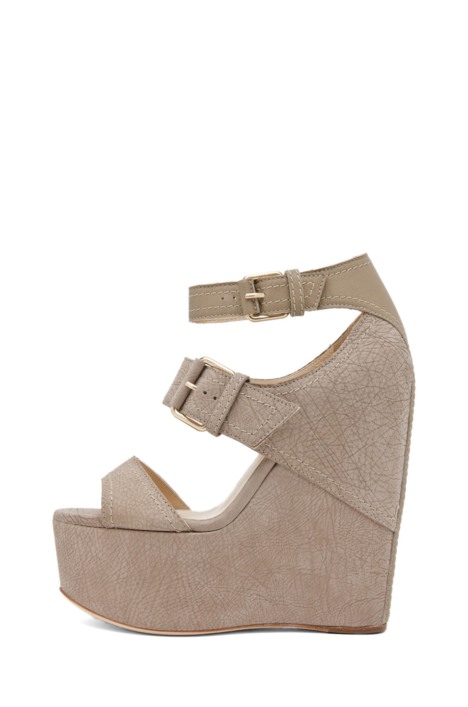 Image 1 of Jimmy Choo Leora Wedge Sandal in Light Khaki