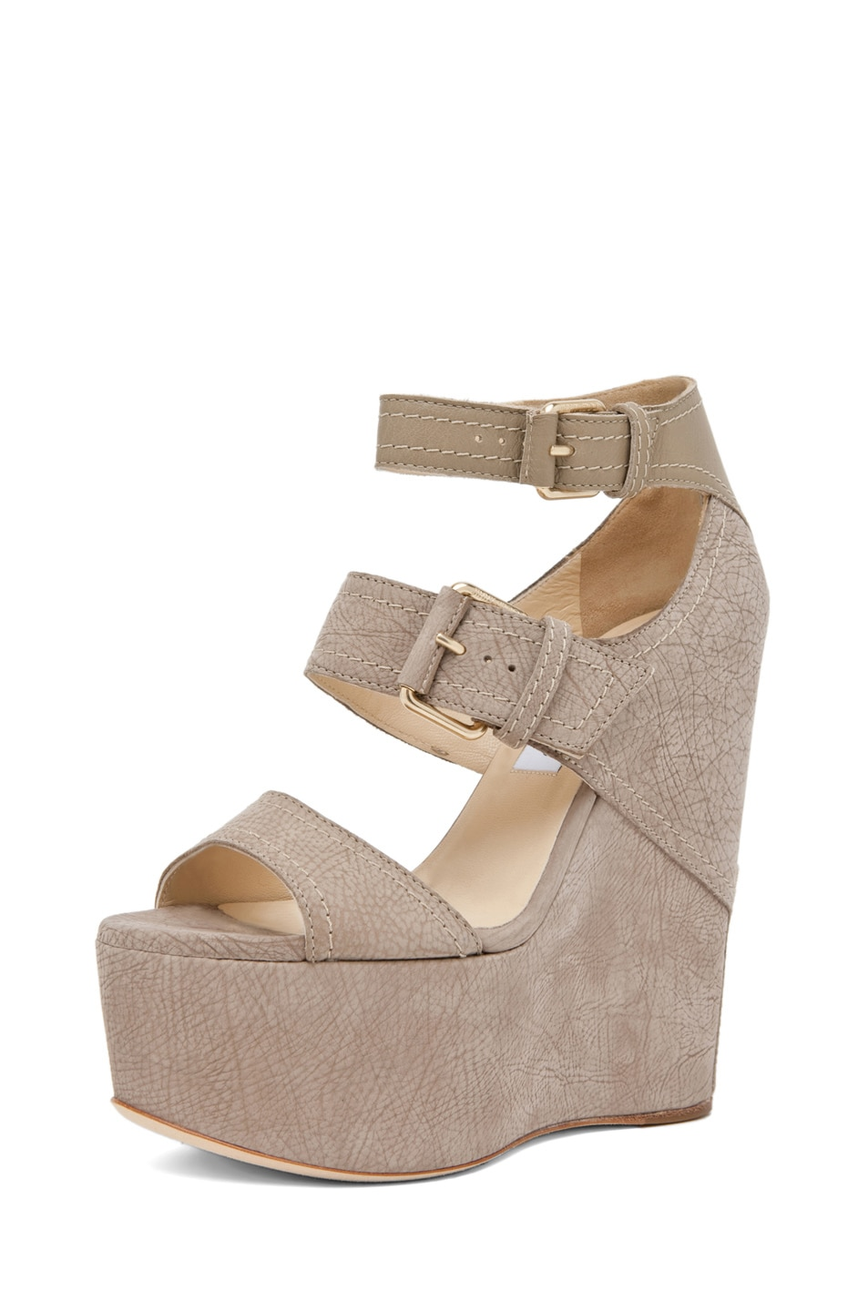 Image 2 of Jimmy Choo Leora Wedge Sandal in Light Khaki