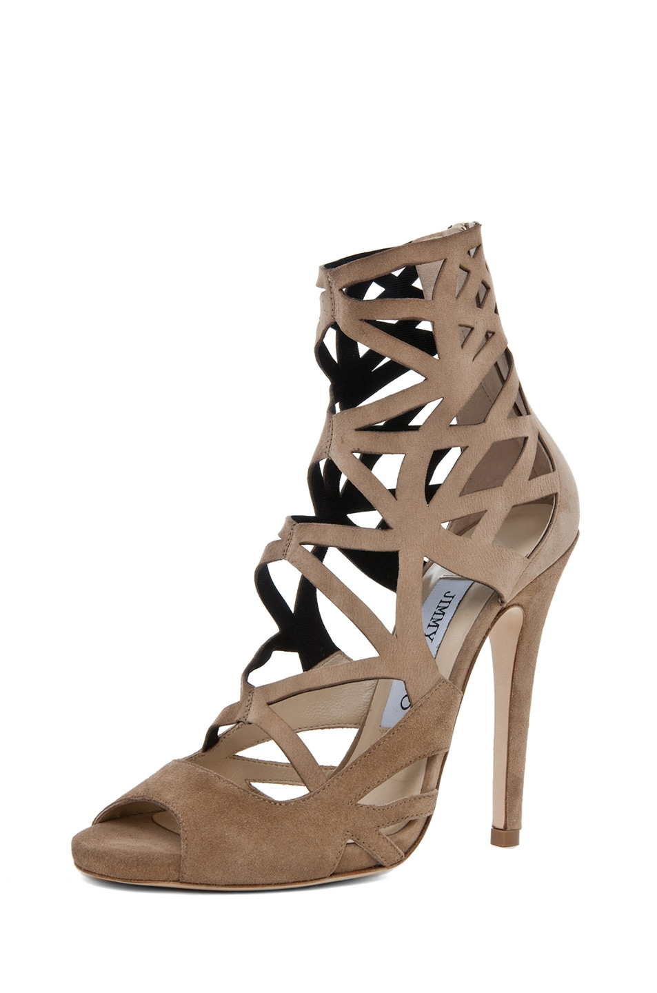 Image 2 of Jimmy Choo Viva Cut Out Bootie in Nude