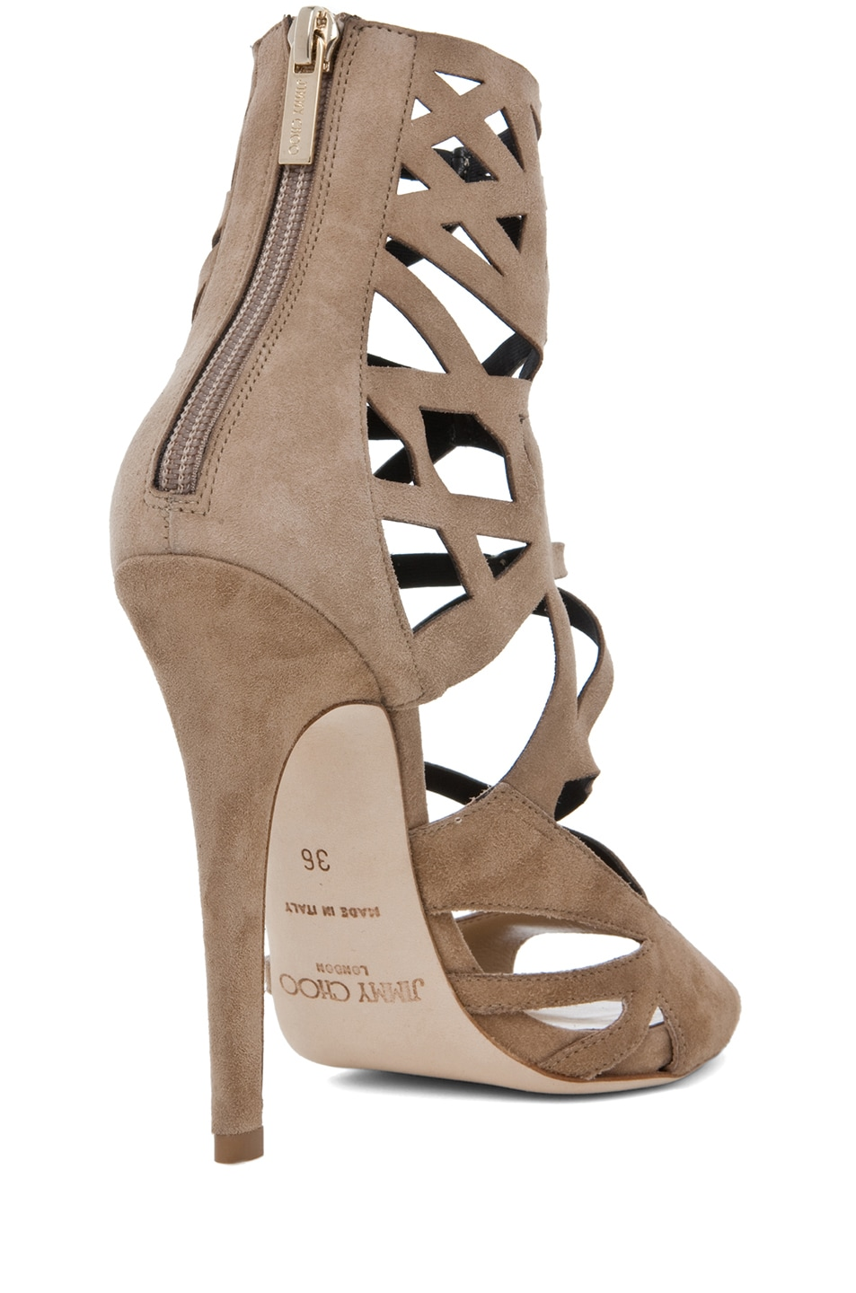 Image 3 of Jimmy Choo Viva Cut Out Bootie in Nude