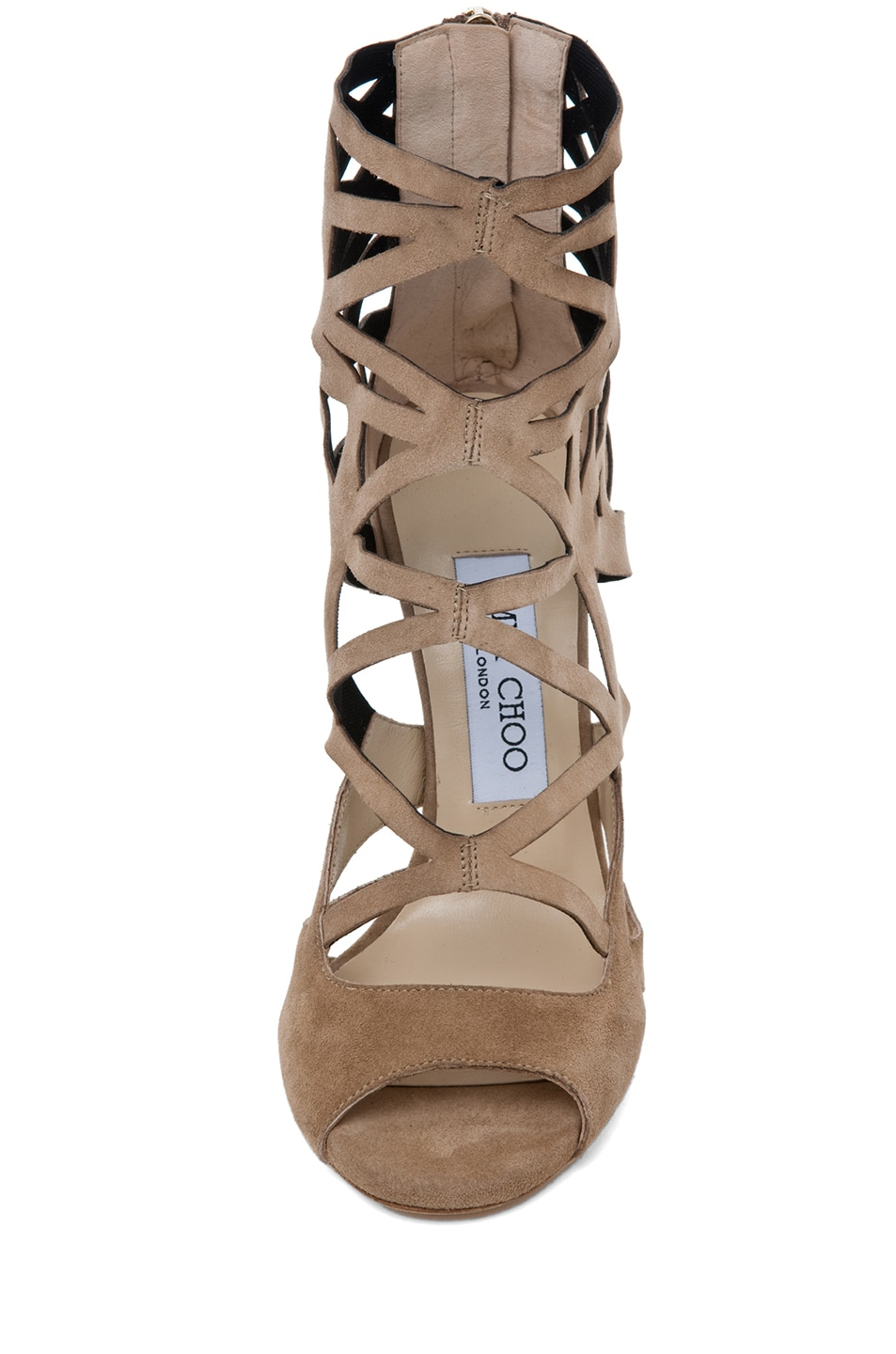 Image 4 of Jimmy Choo Viva Cut Out Bootie in Nude