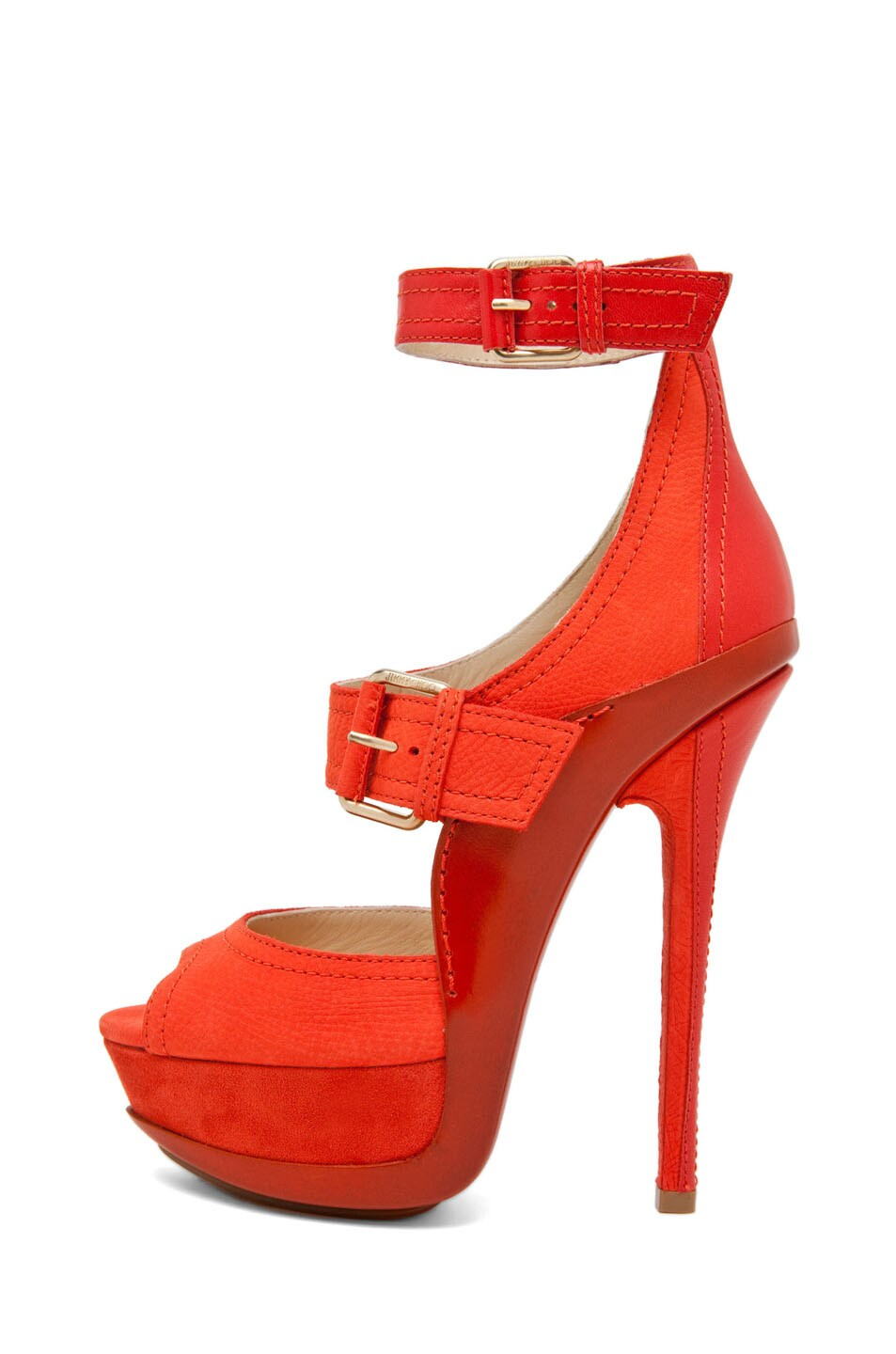 Image 1 of Jimmy Choo Letitia Platform Sandal in Coral