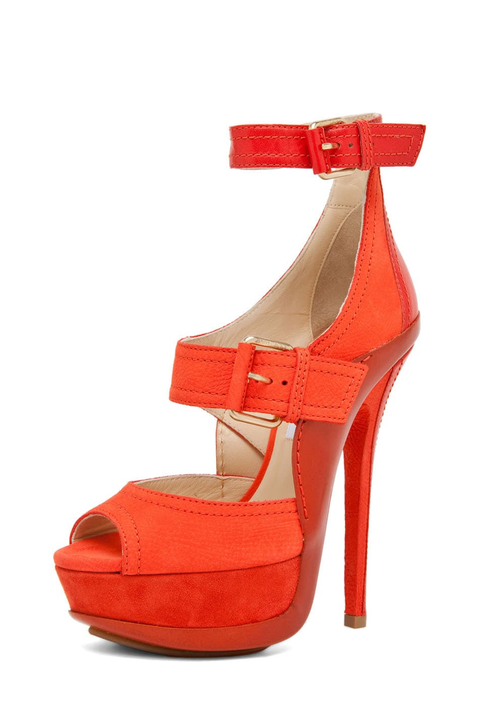 Image 2 of Jimmy Choo Letitia Platform Sandal in Coral