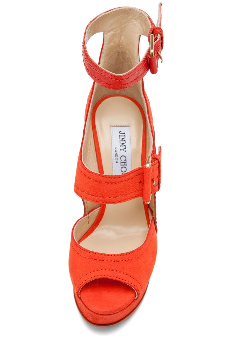 Image 4 of Jimmy Choo Letitia Platform Sandal in Coral