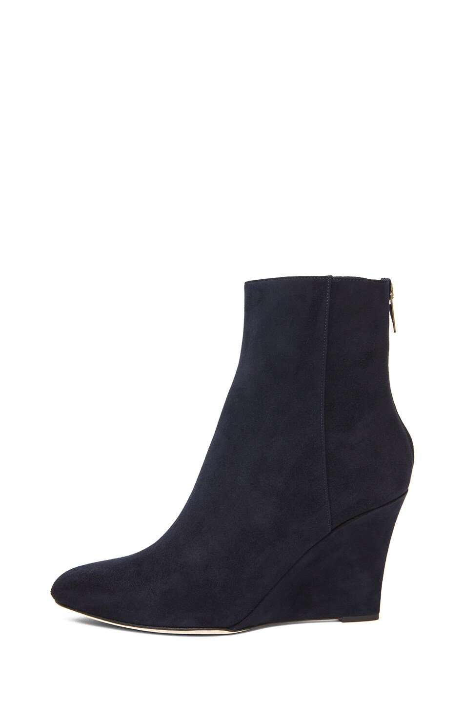 Image 1 of Jimmy Choo Mayor Suede 85mm Wedge Ankle Boot in Navy