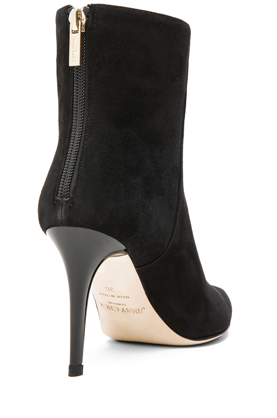Image 3 of Jimmy Choo Brock Suede 85mm Ankle Boot in Black Suede