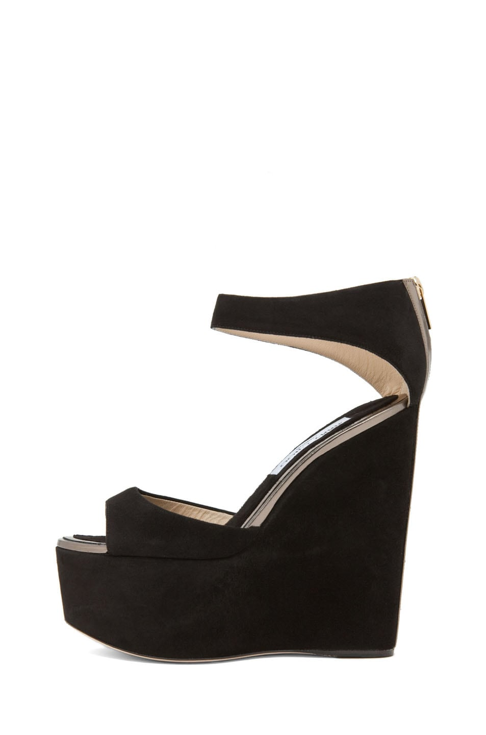 Image 1 of Jimmy Choo Topaz Wedge Sandal in Black