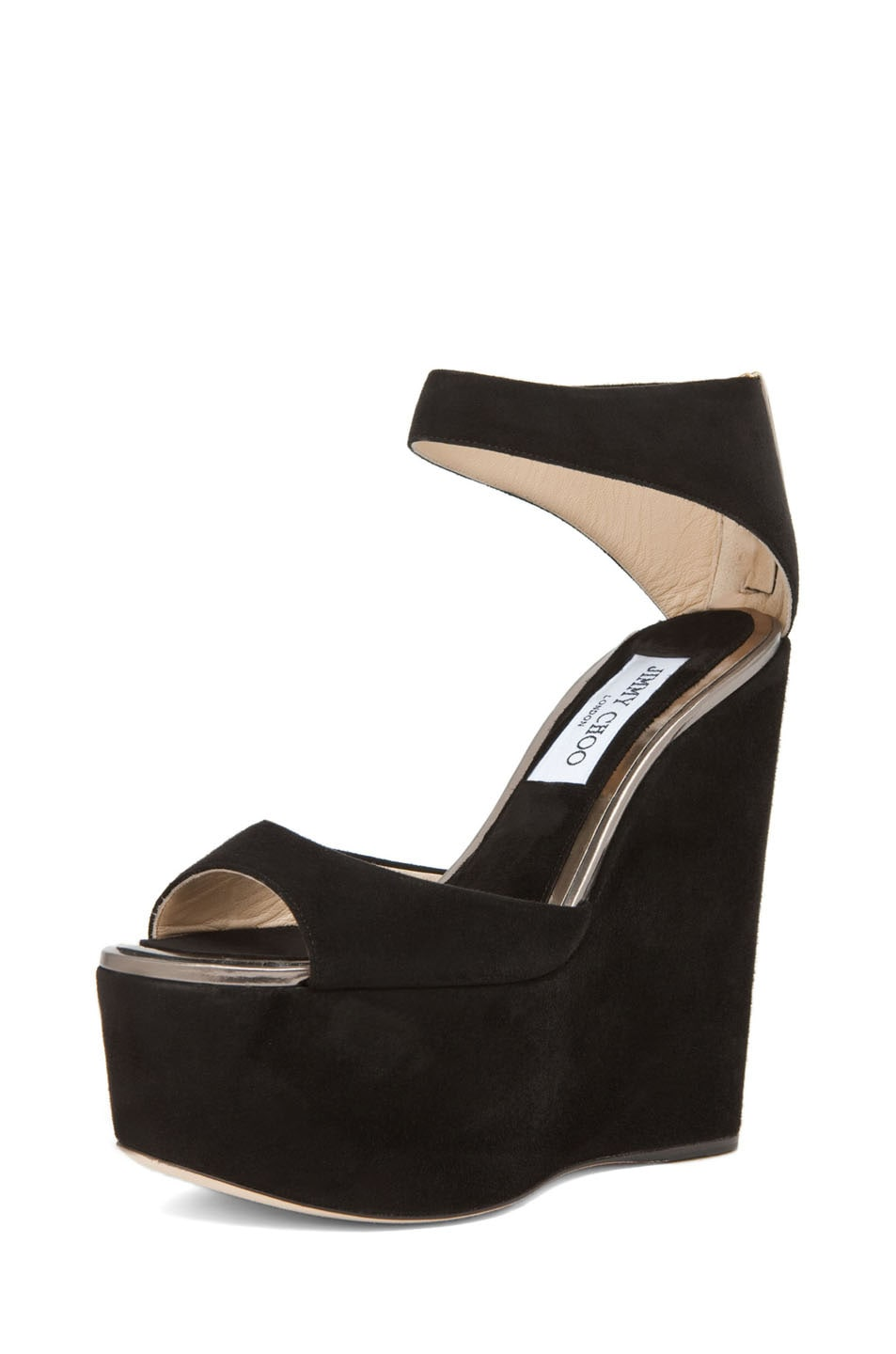 Image 2 of Jimmy Choo Topaz Wedge Sandal in Black