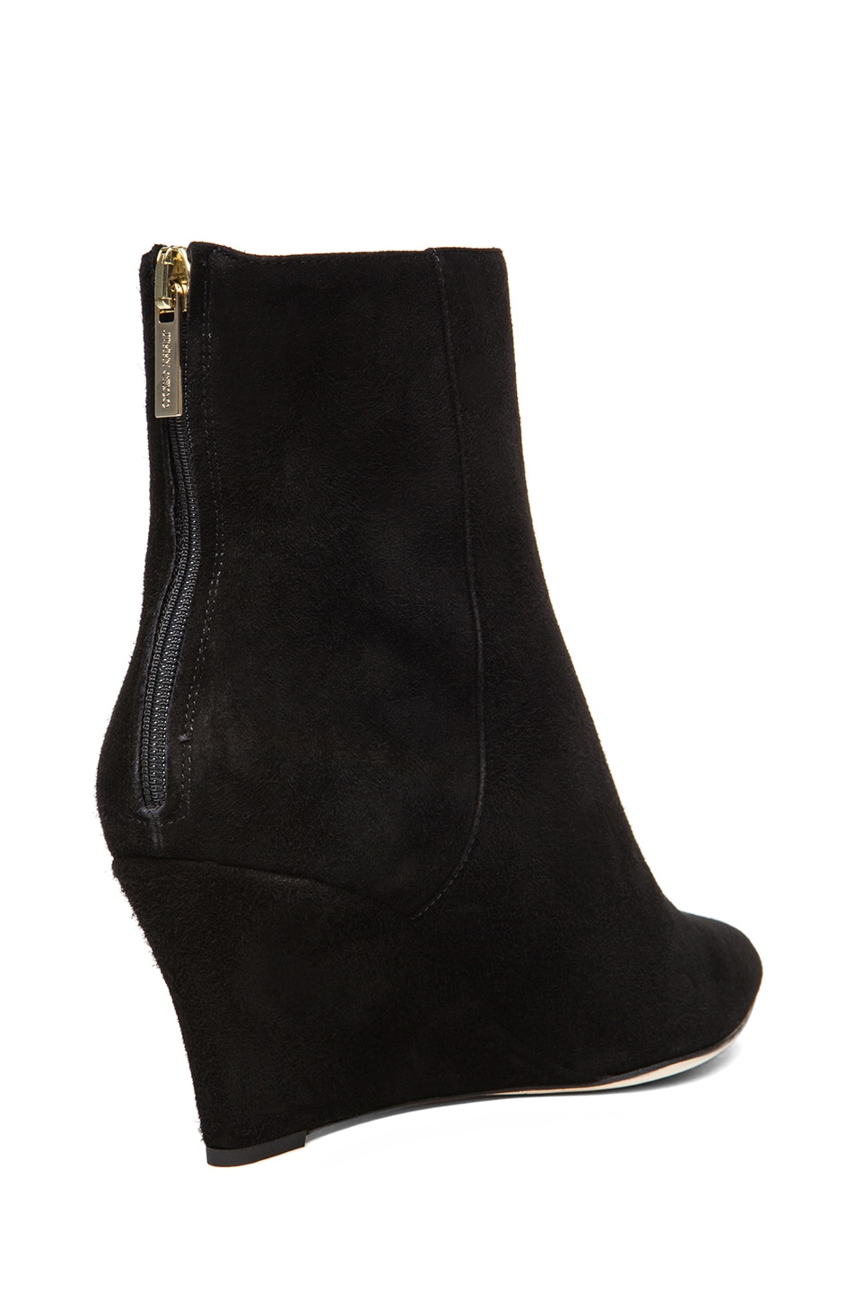 Image 3 of Jimmy Choo Mermaid Suede Wedge Ankle Boots in Black