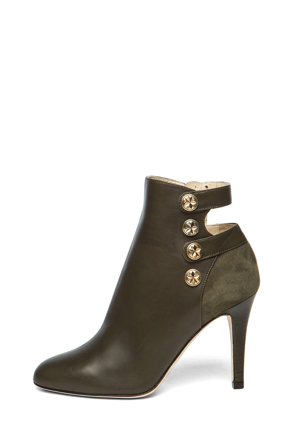 Image 1 of Jimmy Choo Troop Leather Booties in Military