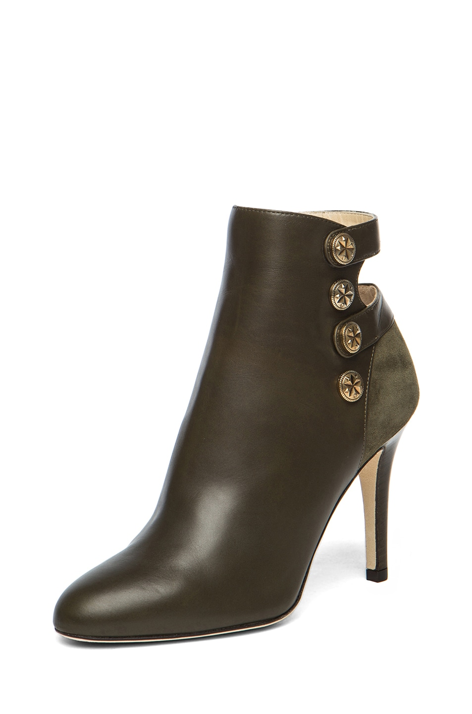 Image 2 of Jimmy Choo Troop Leather Booties in Military