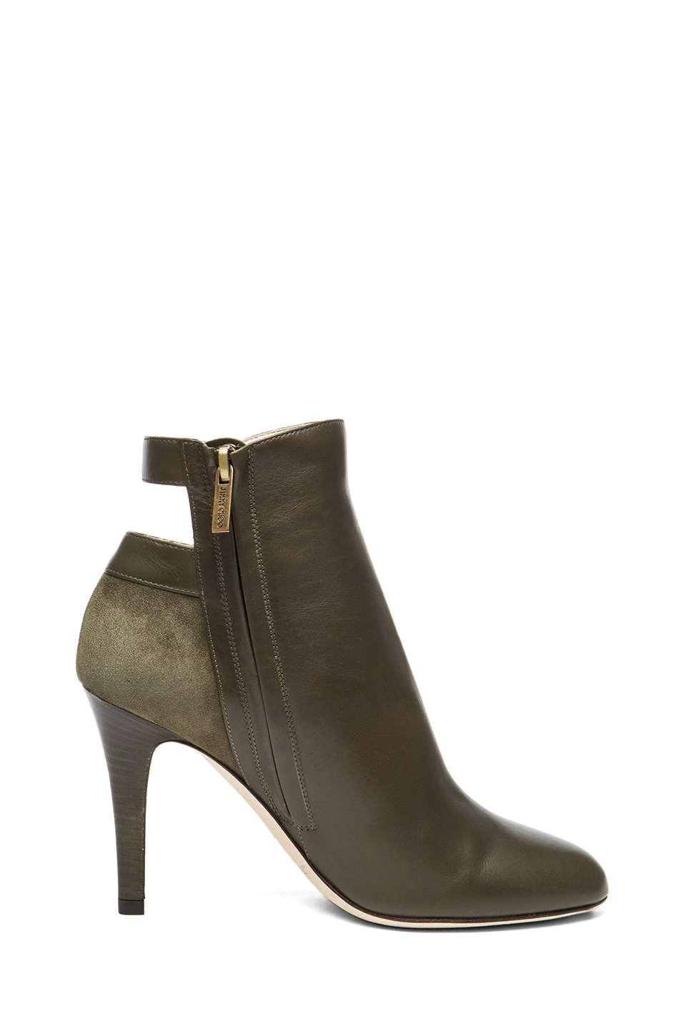 Image 5 of Jimmy Choo Troop Leather Booties in Military