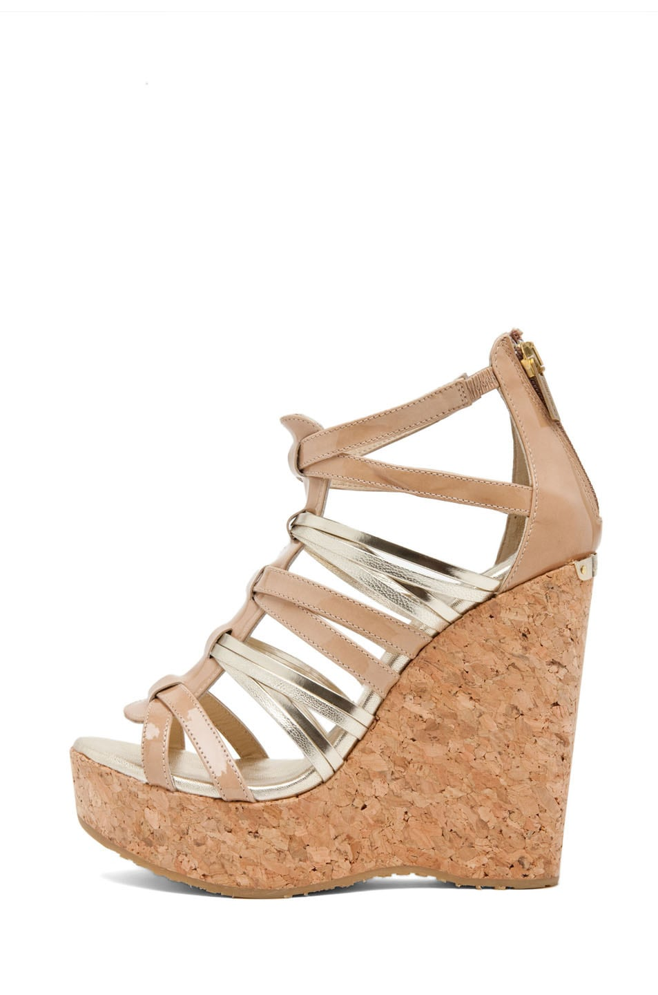 Image 1 of Jimmy Choo Pekabo Cork Wedge Sandal in Nude