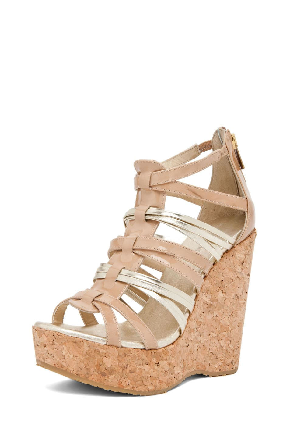 Image 2 of Jimmy Choo Pekabo Cork Wedge Sandal in Nude