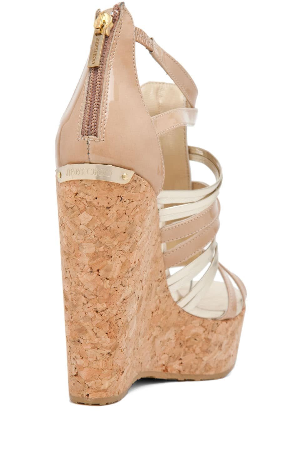 Image 3 of Jimmy Choo Pekabo Cork Wedge Sandal in Nude