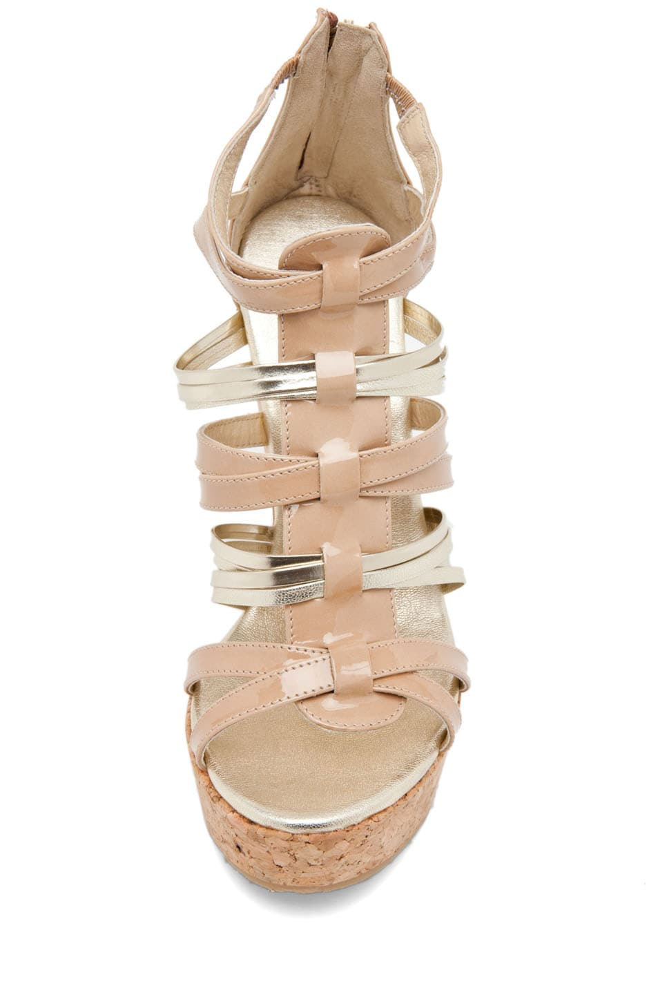 Image 4 of Jimmy Choo Pekabo Cork Wedge Sandal in Nude