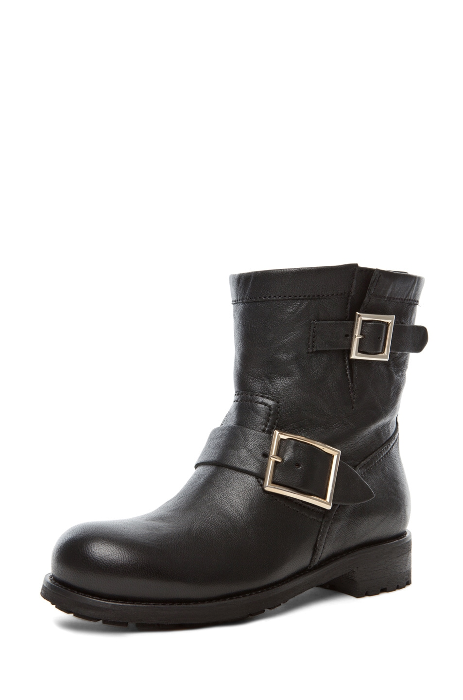 Image 2 of Jimmy Choo Youth Low Biker Boot in Black