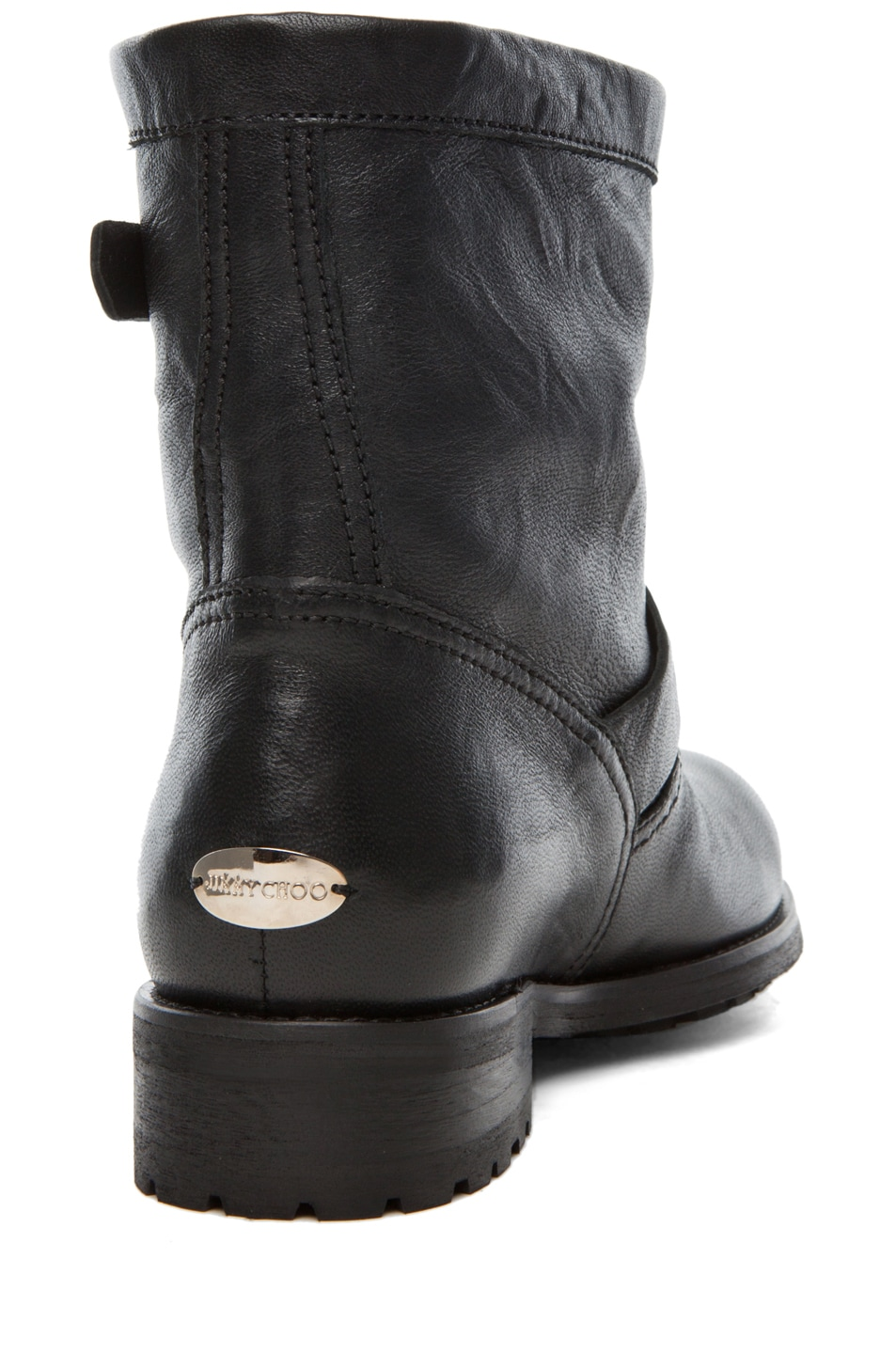 Image 3 of Jimmy Choo Youth Low Biker Boot in Black